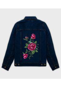 Kurtka jeansowa MegaKoszulki na wiosnę, klasyczna, z nadrukiem