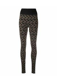 Czarne legginsy Wolford klasyczne, z aplikacjami, z podwyższonym stanem