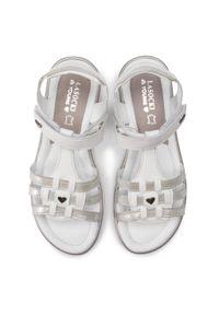 Białe sandały Lasocki Young z aplikacjami, na lato