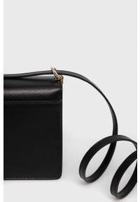 Furla - Torebka skórzana 1927. Kolor: czarny. Materiał: skórzane. Rodzaj torebki: na ramię