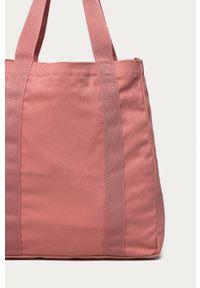Różowa shopperka Reebok Classic na ramię, duża