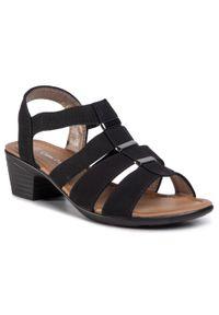 Czarne sandały Clara Barson na co dzień, casualowe, z aplikacjami