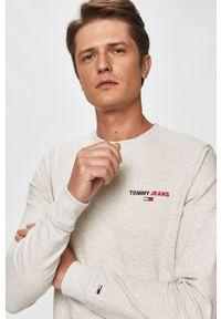 Szara bluza nierozpinana Tommy Jeans casualowa, bez kaptura, melanż