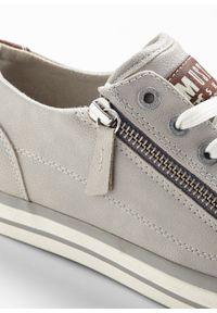 Szare buty sportowe bonprix z aplikacjami