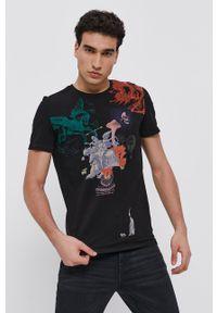 medicine - Medicine - T-shirt Summer Heat. Kolor: czarny. Materiał: bawełna, dzianina. Wzór: nadruk