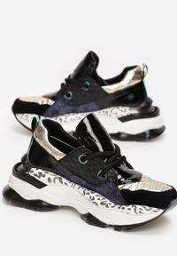 Renee - Czarne Sneakersy Leuceris. Kolor: czarny