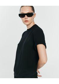 ANIA KUCZYŃSKA - Bawełniany t-shirt Franca. Kolor: czarny. Materiał: bawełna. Styl: klasyczny