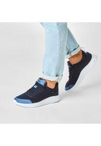 Niebieskie buty sportowe Supra na co dzień, z cholewką