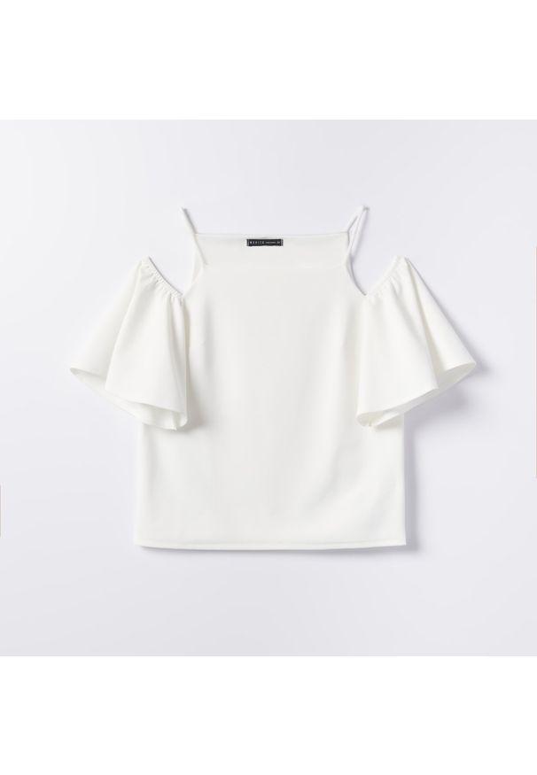 Mohito - Bluzka z odkrytymi ramionami - Biały. Kolor: biały