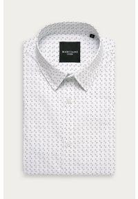 Biała koszula Marciano Guess klasyczna, z długim rękawem, z klasycznym kołnierzykiem, długa