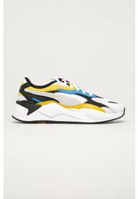 Białe sneakersy Puma z cholewką, na sznurówki