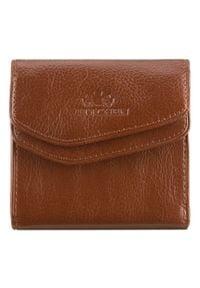 Wittchen - Męski portfel skórzany rozkładany. Kolor: brązowy. Materiał: skóra