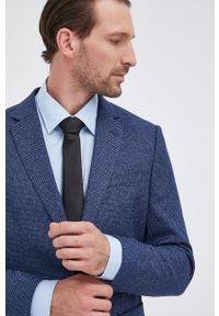 BOSS - Boss - Marynarka. Kolor: niebieski. Materiał: tkanina. Styl: klasyczny
