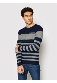 Guess Sweter M1YR61 Z2UZ0 Granatowy Regular Fit. Kolor: niebieski