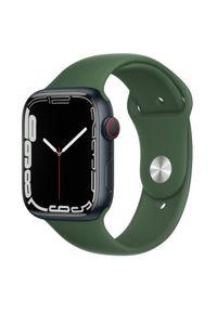 APPLE - Smartwatch Apple Watch 7 GPS+Cellular 45mm aluminium, zieleń | zielony pasek sportowy. Rodzaj zegarka: smartwatch. Kolor: zielony. Styl: sportowy