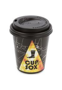 Szare skarpetki Cup of Sox w kolorowe wzory