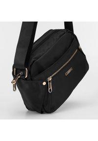 Wittchen - Damska torebka nylonowa. Kolor: czarny. Rozmiar: średnie. Styl: elegancki, casual. Rodzaj torebki: na ramię