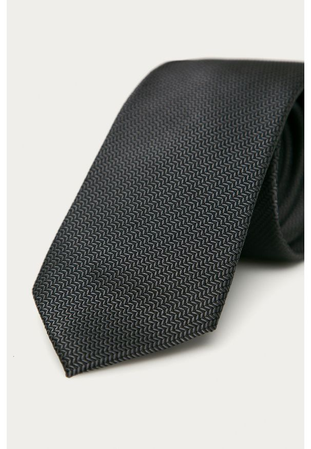 Czarny krawat Calvin Klein