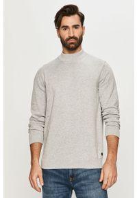 Szary sweter Premium by Jack&Jones casualowy, długi, na co dzień