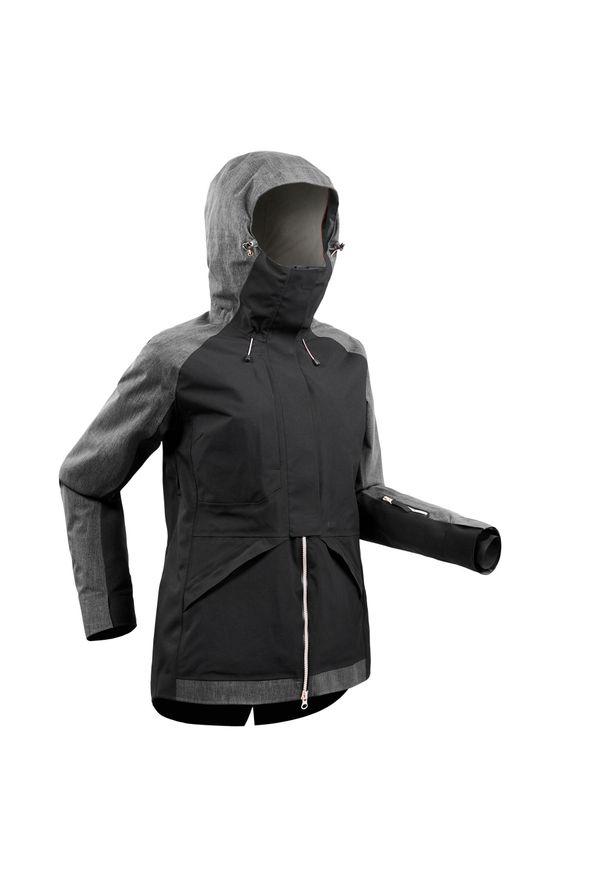 DREAMSCAPE - Kurtka snowboardowa SNB JKT 900 damska. Kolor: czarny, wielokolorowy, różowy. Materiał: materiał. Sport: snowboard