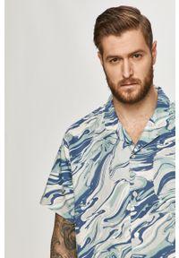 Niebieska koszula Levi's® krótka, na spotkanie biznesowe, z krótkim rękawem, casualowa