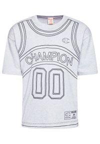 Champion T-Shirt Basketball Tank Print 216427 Szary Custom Fit. Kolor: szary. Wzór: nadruk