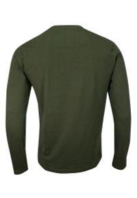 T-shirt Zielony, Oliwkowy, 100% BAWEŁNA, Długi Rękaw, Khaki, Koszulka, Longsleeve -Brave Soul- Męski. Okazja: na co dzień. Kolor: zielony, oliwkowy, brązowy, wielokolorowy. Materiał: bawełna. Długość rękawa: długi rękaw. Długość: długie. Wzór: napisy, aplikacja. Styl: casual