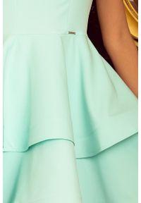 Numoco - Mocno rozkloszowana sukienka z dwiema falbanami. Okazja: na wesele, na ślub cywilny, na komunię. Materiał: wiskoza, poliester, materiał #2