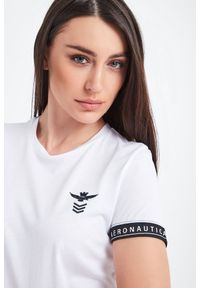 T-shirt Aeronautica Militare casualowy, na co dzień