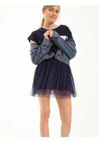 Niebieska spódnica TROLL casualowa, krótka, na co dzień
