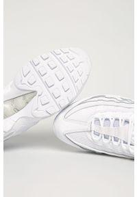 Białe sneakersy Nike Sportswear na sznurówki, Nike Air Max, z cholewką