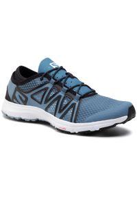 Niebieskie buty do biegania salomon z cholewką