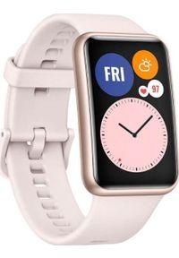 HUAWEI - Smartwatch Huawei Fit Stia-B09 Różowy (Fit). Rodzaj zegarka: smartwatch. Kolor: różowy