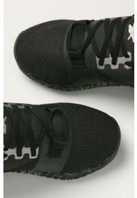 Czarne buty sportowe Reebok z cholewką, na średnim obcasie, na obcasie
