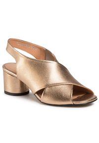 Złote sandały Simen na co dzień, casualowe