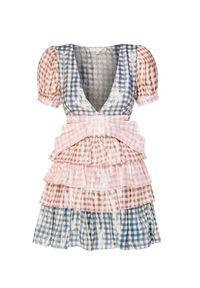 Wielokolorowa sukienka LoveShackFancy z nadrukiem, z kokardą