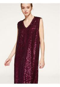 Fioletowa sukienka koktajlowa Persona by Marina Rinaldi wizytowa