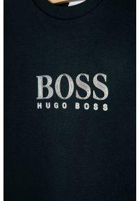 Niebieska bluza BOSS na co dzień, z nadrukiem, casualowa