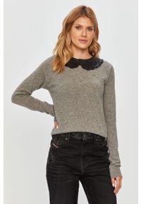 Szary sweter Pinko klasyczny, długi, na co dzień, z długim rękawem