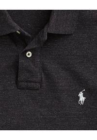 Ralph Lauren - RALPH LAUREN - Koszulka polo Slim Fit. Typ kołnierza: polo. Kolor: czarny. Materiał: bawełna, prążkowany. Wzór: haft #2