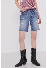 medicine - Medicine - Szorty jeansowe Denim. Okazja: na co dzień. Kolor: niebieski. Materiał: denim, jeans. Styl: casual
