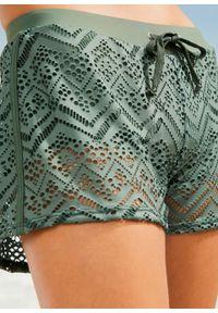Zielony strój kąpielowy bonprix w koronkowe wzory