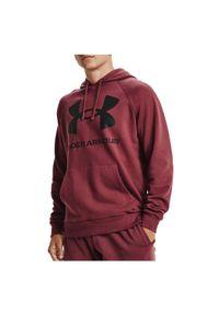 Bluza męska Under Armour Rival Fleece Big Logo Hoodie 1357093. Typ kołnierza: kaptur. Materiał: bawełna, poliester. Długość rękawa: raglanowy rękaw. Sport: fitness