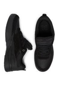 Czarne buty sportowe DC na co dzień, z cholewką