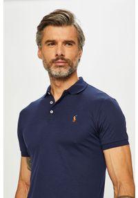 Niebieska koszulka polo Polo Ralph Lauren polo, casualowa, krótka, gładkie