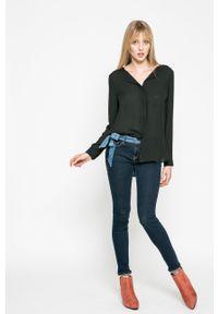 Vila - Koszula. Kolor: czarny. Materiał: tkanina. Wzór: gładki