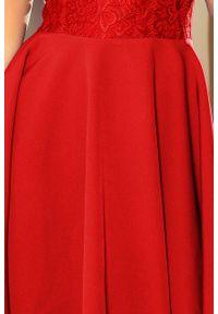 Sukienka koktajlowa Numoco z krótkim rękawem, elegancka
