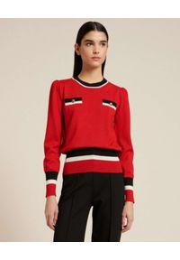 Luisa Spagnoli - LUISA SPAGNOLI - Czerwony sweter z wełny MILO. Kolor: czerwony. Materiał: wełna
