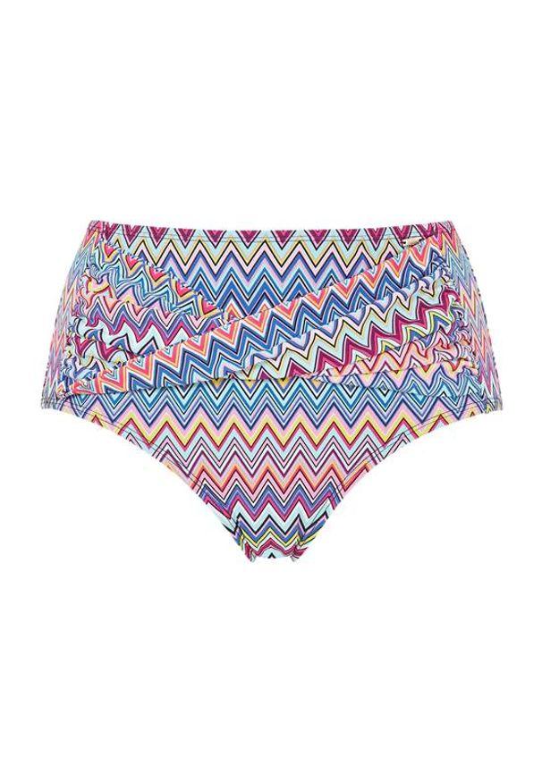 Cellbes Wysokie majtki od bikini we wzory we wzory female ze wzorem 60. Stan: podwyższony