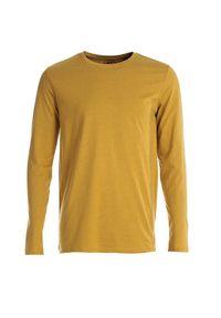 Żółta koszulka z długim rękawem Born2be